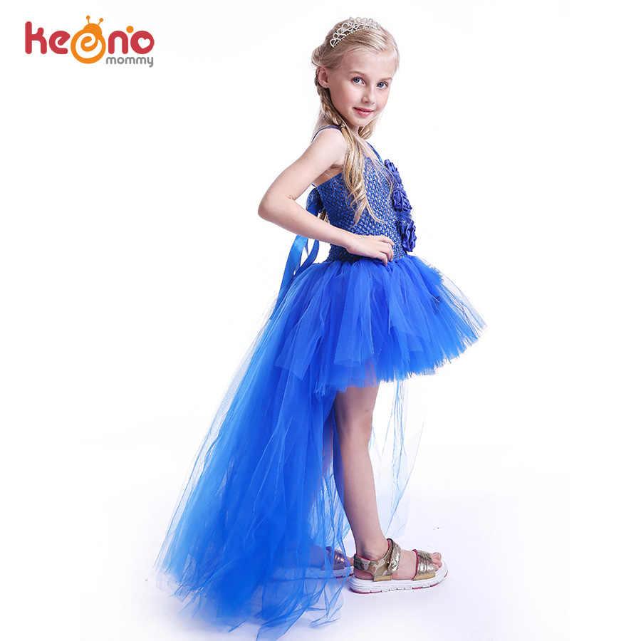 أنيقة الملكي الأميرة مهرجان اللباس للبنات بدلة فاخرة طفلة توتو فساتين زائدة الكرة ثوب طفل فتاة حزب القماش