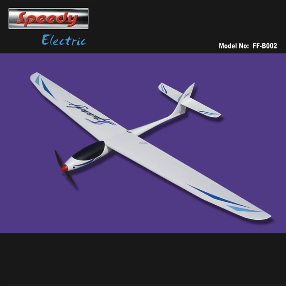 RC Airplane Speedy Electric Glider 1600mm KIT without any electronic parts free shipping techone katana epo red kit version not include any electronic parts