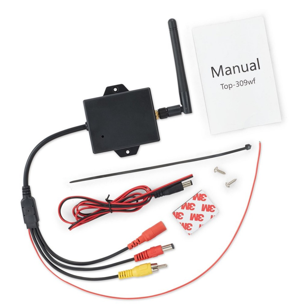 2.4G Wireless Video Transmitter Receiver Kit For Car Rear View Camera Reverse Backup Stable Signal Wireless Connection