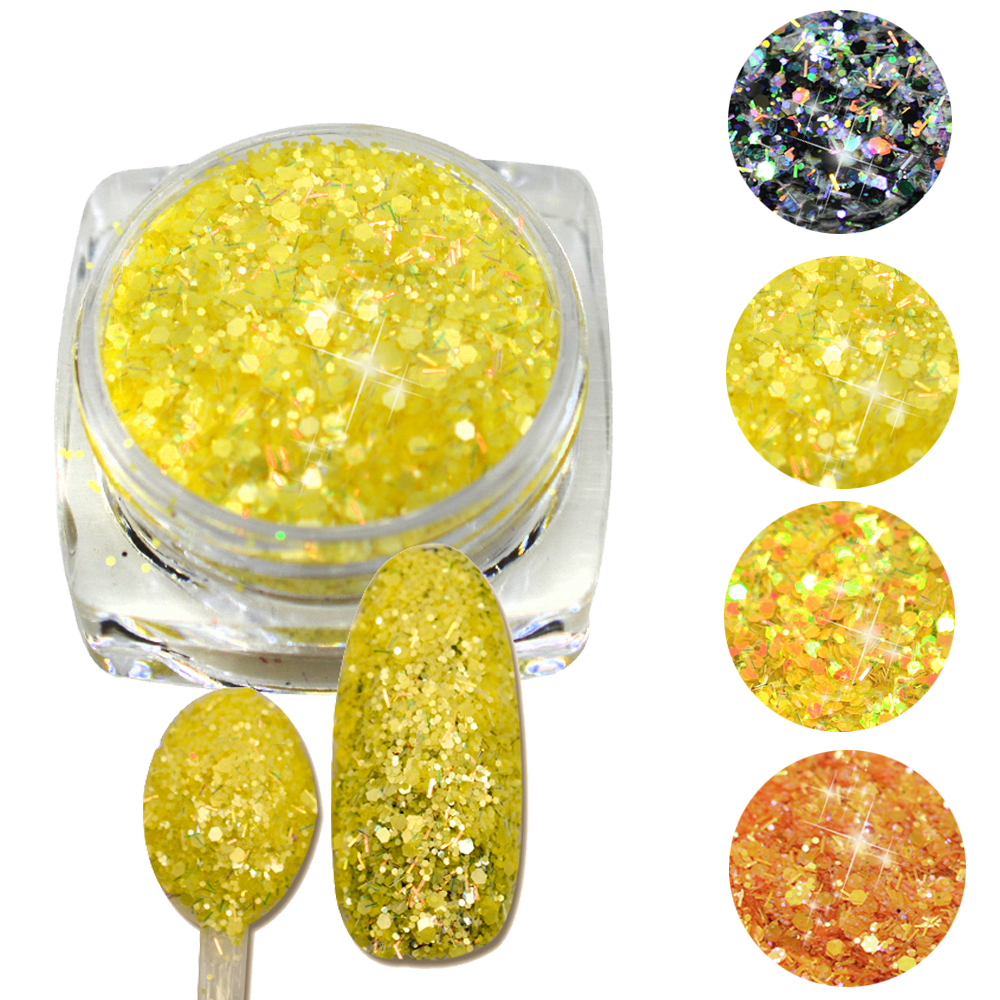 white kitchen canister sets ceramic promotion shop for promotional trendy nail 3g jar 3d sequins nail cheese glitter dust powder polish gel girl color dazzling decorations jisn21 24
