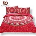 Beddingoutlet mandala roja de cama casa elefante messenger indio marroquí tela ropa de cama ropa de cama suave 3 unids real