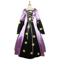 Woman's Renaissance Victorian Medieval Gothic Long Purple Dresses For Halloween Ball Gowns Costumes Gothic Evening Dresses