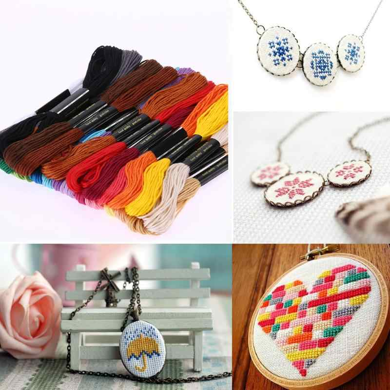 24 kolory magiczne nici do haftowania poliester ręcznie ściegiem krzyżykowym nici do szycia rzemiosło ręczne nici dziewiarskie przyrządy do szycia