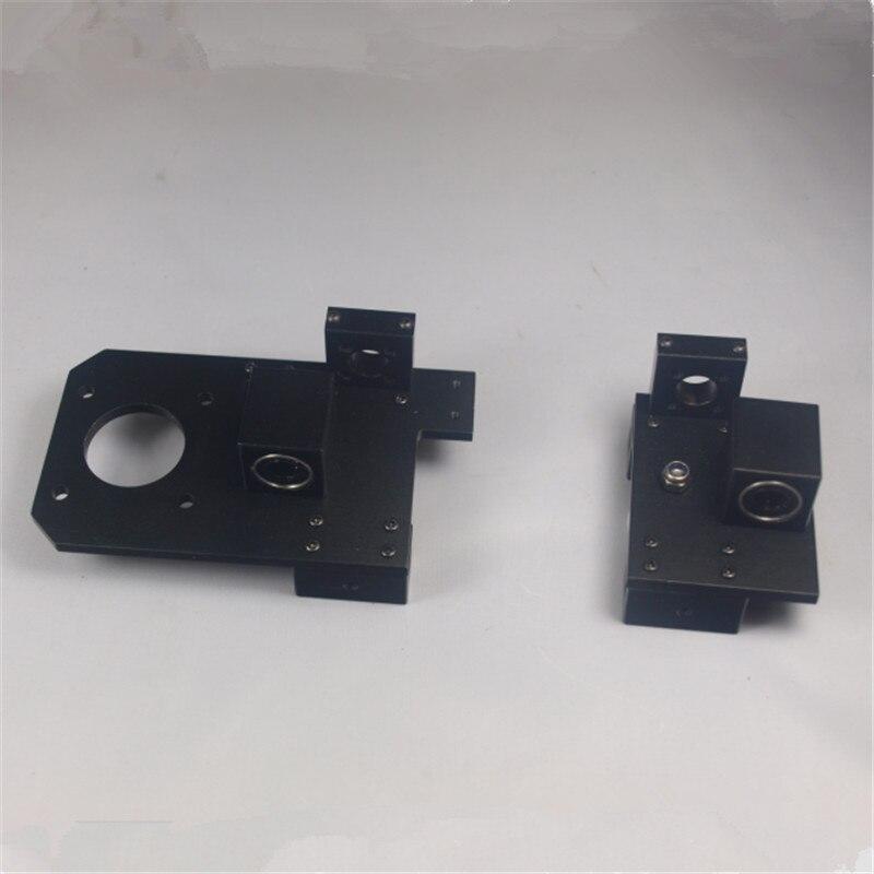 Prusa I3 3D printer metal aluminum alloy X axis X-ENDIDLER +X-ENDMOTOR kit/set Reprap rework adjustable for TR8 lead scr reprap prusa i3 3d printer metal carriage 1 75 mm all metal direct drive extruder hotend kit set aluminum alloy