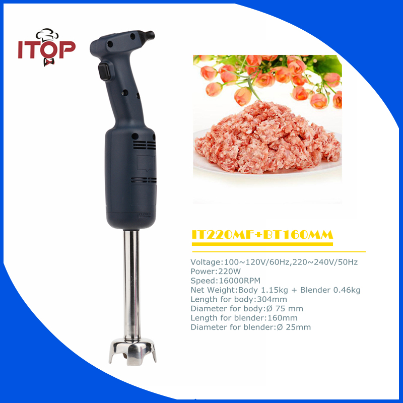 ITOP IT220MF+BT160 Immersion Blender Multifunctional Electric Stick  Hand Commercial Mixer Juicer Meat Grinder Food Processor glantop 2l smoothie blender fruit juice mixer juicer high performance pro commercial glthsg2029