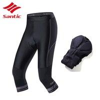 גברים מכנסיים רכיבה על אופניים Santic גרביונים מרופד פרו 3/4 אורך מכנסיים אופני אופני כביש MTB Downhill מכנסיים יע Ciclismo 2018