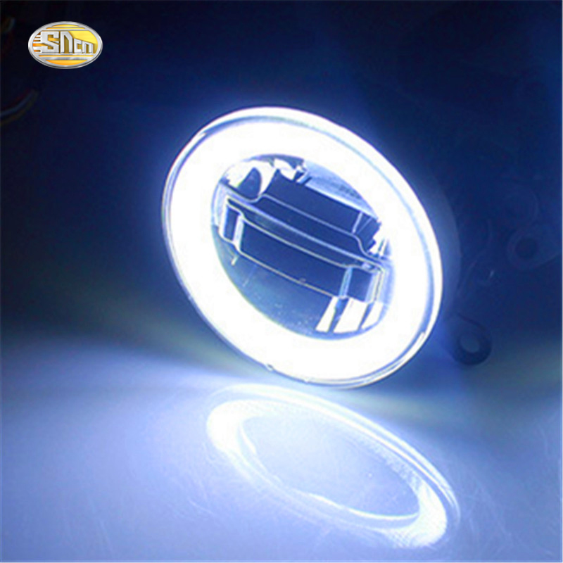 SNCN LED Fog lamp for Peugeot 301 2014 2015 2016 2017 LED Angle Eyes Daytime Running Light in Car Light Assembly from Automobiles Motorcycles