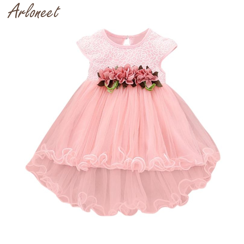 2015 dress baby lace ummer Floral Dress Princess Party Wedding Tulle dresses baby girl fancy 5.9