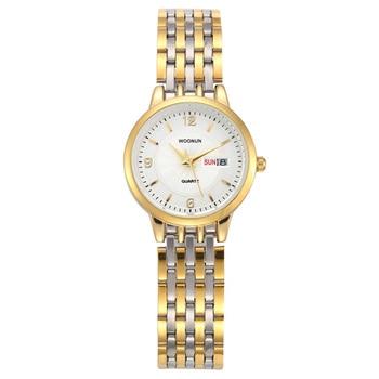WOONUN Top Brand Ladies Luxury Stainless Steel Date Day Bracelet Women Quartz Watches 1