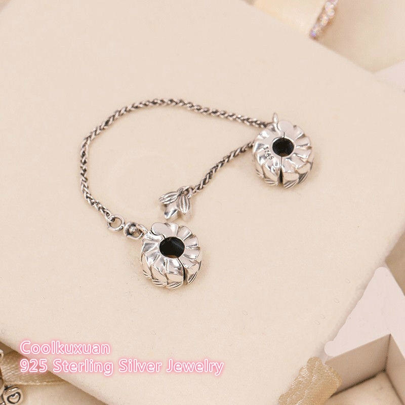45011f676eb80 US $14.62 19% OFF|2018 Autumn 100% 925 Sterling Silver Grains of Energy  Safety Chain Beads Fit Original Pandora Charms Bracelet DIY jewelry-in  Beads ...