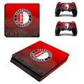 Equipo de fútbol feyenoord ps4 delgada piel de la etiqueta engomada para sony ps4 playstation 4 consola slim y 2 controladores