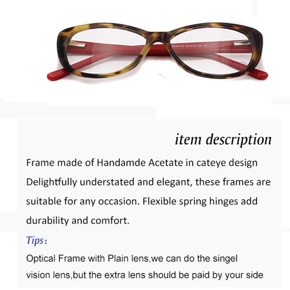 ESNBIE seksi dame Cateye optičke naočale mačka oči moderne - Pribor za odjeću - Foto 6