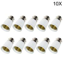 10x большая акция B22 к E27 База светодиодные лампы противопожарные держатель адаптер лампы База S винт конвертер конвертер