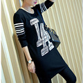 2015 autumn new code in the long section of loose cotton coat Korean female long sleeve shirt shirt