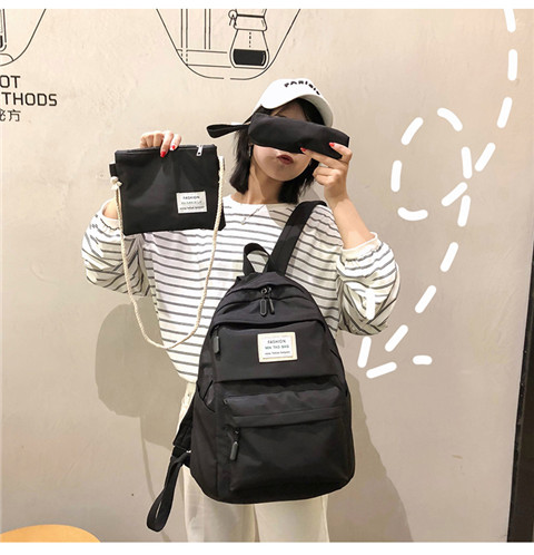HTB1z5F5XND1gK0jSZFyq6AiOVXaO Nylon Backpack Women Backpack Solid Color Travel Bag Large Shoulder Bag For Teenage Girl Student School Bag Bagpack Rucksack
