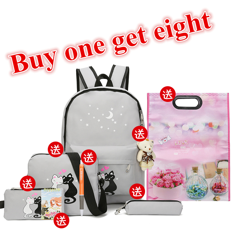2018 New Canvas Printing Backpacks Childern Softback Backpack School Bags for Girls Teenagers Student Book Bag Schoolbag все цены