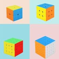 4 stks/set 2*2,3*3,4*4,5*5 Glad Kubus Puzzel Brain Teaser Magico Speed Cubo Hand Spinner Kids Geschenken Educatief Speelgoed voor Childre