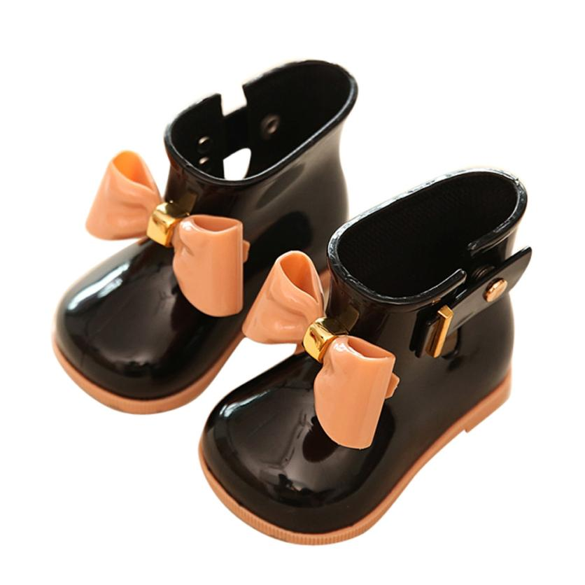Girl Shoes Boot-X0510 Rain Baby Waterproof Children Bow Cute TELOTUNY