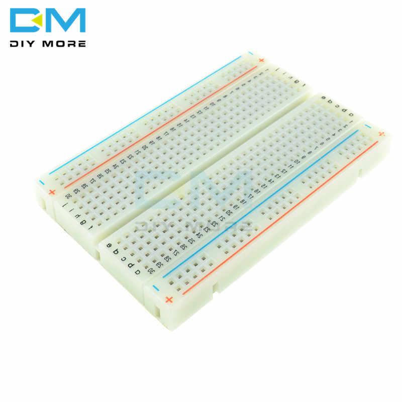 Trous universels sans soudure PCB platine de prototypage Mini Test Protoboard bricolage planche à pain pour Bus carte de Test 400 Points de liaison