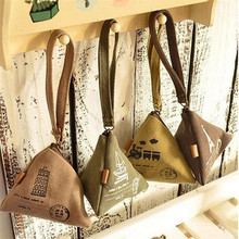 Chicdream Ретро ручной холст Материал Zongzi Форма кошелек брелок Детей Портмоне рюкзак подвеска брелок