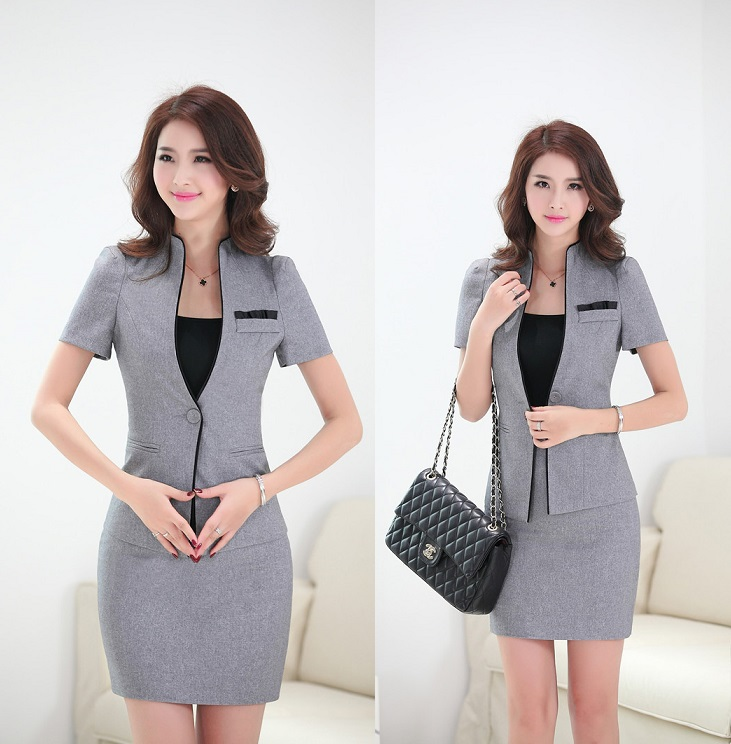 Aliexpress.com : Buy Formal Uniform Design Elegant Grey Business ...