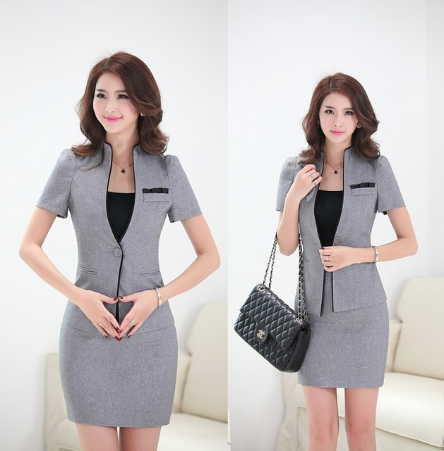 Buy formal uniform design elegant grey for Office uniform design 2014