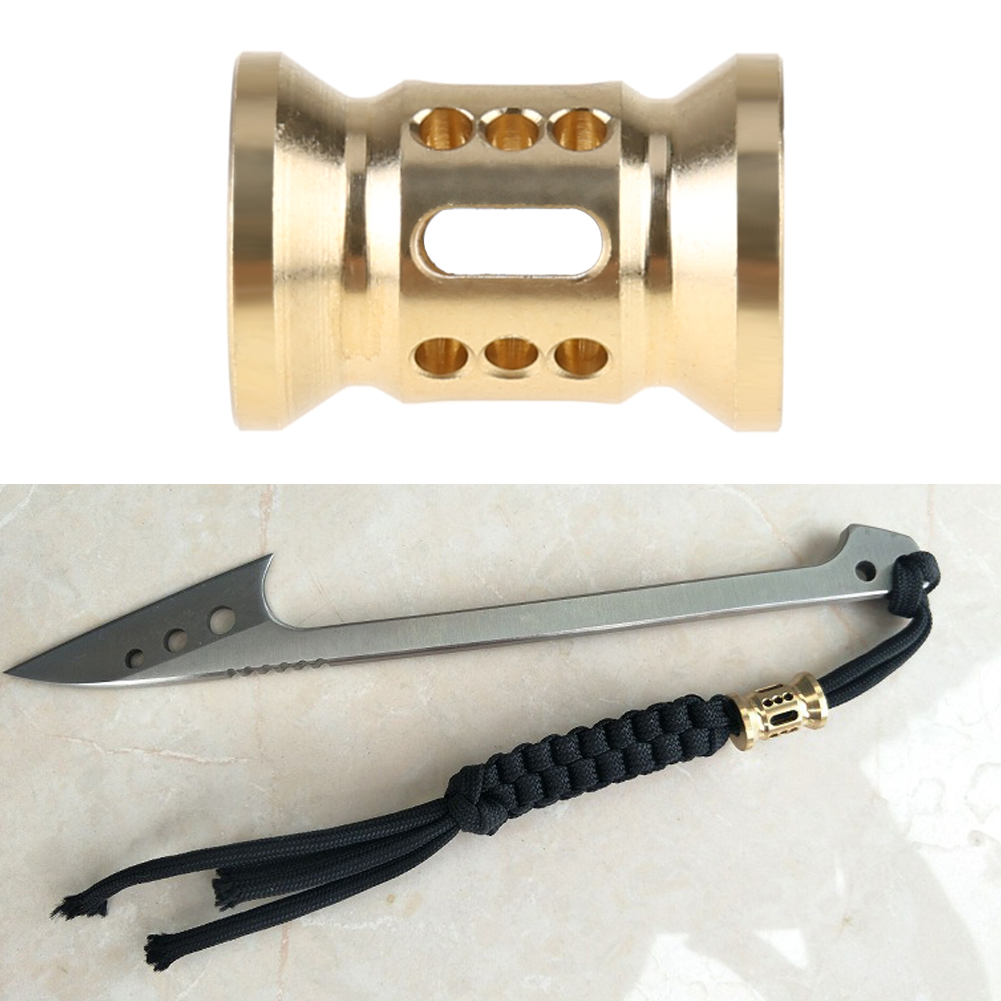 Brass Knife Beads Rope Light Knife Pendants Fall Brass Knife Ornaments EDC Brass Knife Fall Beads Phone Gadgets Outdoor Tools