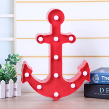 LED Lamp 3D Night Lights Marquee Bell Anchor Letter Night Lamp Children's Baby Bedroom Decoration Lamp gift for Kids