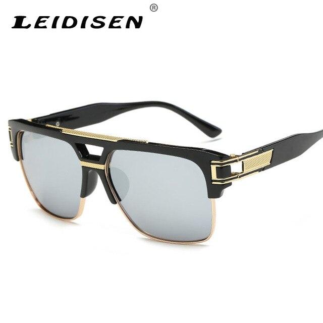4d1a46fc4f LEIDISEN Mode lunettes de Soleil Femmes Vintage Tendance Lunettes de Soleil  De Luxe Marque Designer Hommes
