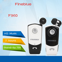 Newest FineBlue F960 Stereo Wireless Bluetooth Headset Calls Remind Vibration Wear Clip Driver Auriculares Earphone For