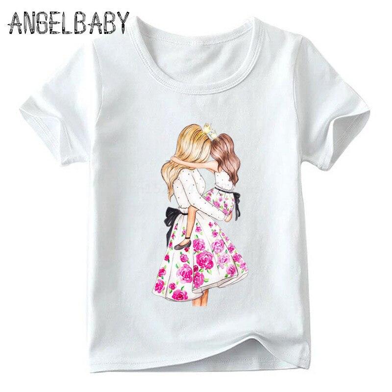 Одинаковые комплекты для семьи футболка для мальчиков и девочек с принтом супермамы и дочки одежда для подарка на День Матери Забавные футболки для детей и женщин - Цвет: 5281J