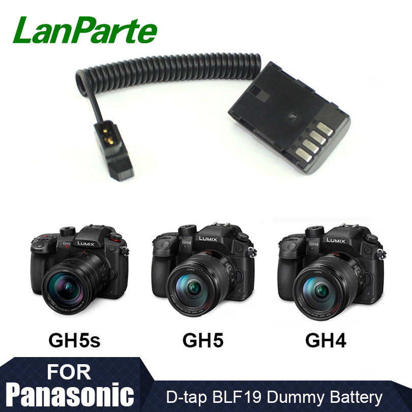 Lanparte D tap BLF19 Fixed Voltage Dummy Battery Pack for GH5s GH5 GH4 for Panasonic Camera