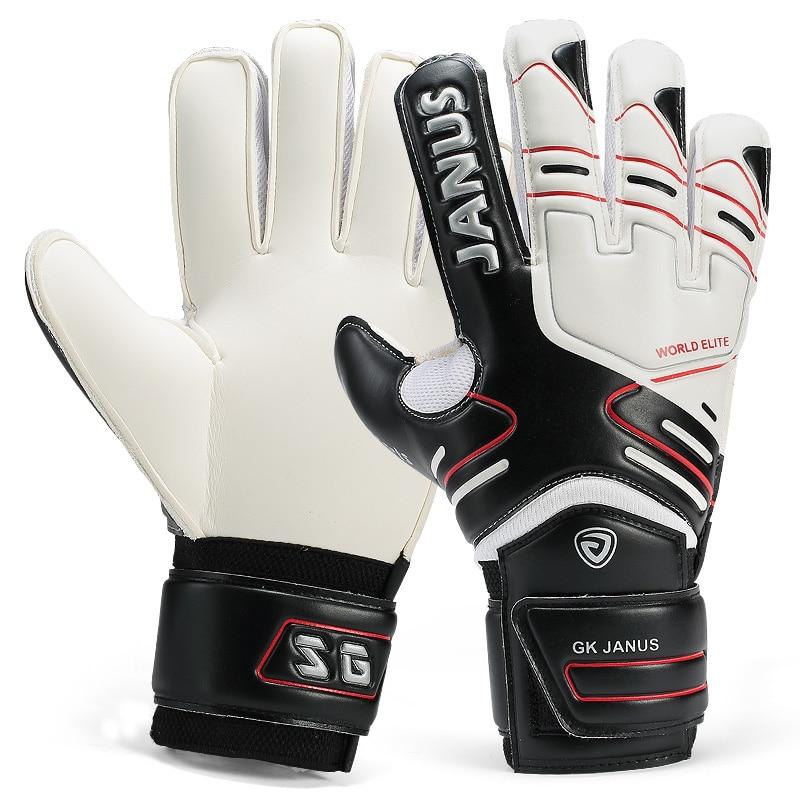 Профессиональные перчатки для взрослых и детей, вратарские перчатки для защиты пальцев, уплотненный латексный футбольный футбол, вратарск...