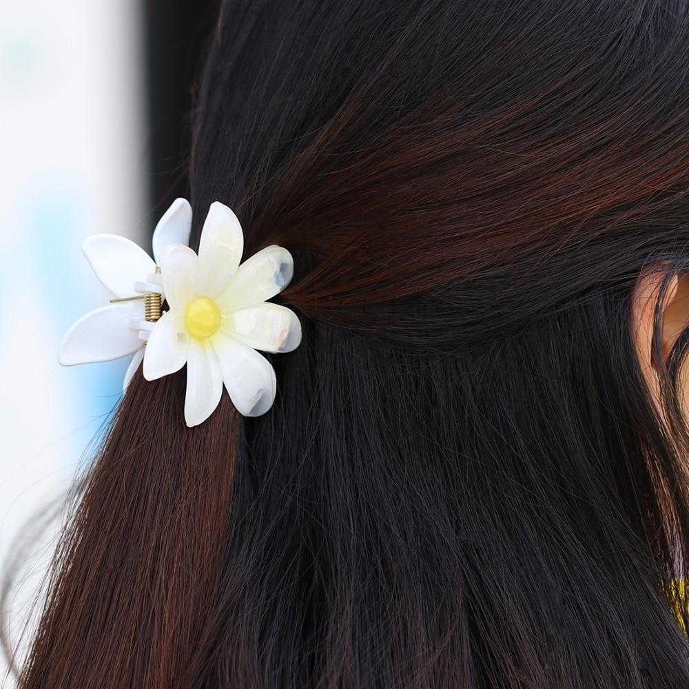 Floral Hair Clip Womens Hair Accessories White Plumeria Hawaiian