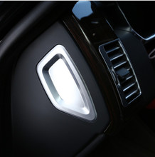 цена на 2pcs ABS Chrome Side Center Console Decoration Panel Cover Trim For Land Rover Range Rover Vogue Autobiography 2014-2017 L405