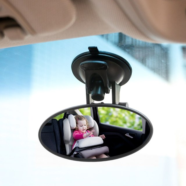 Car Interior Rear View Mirror Suction Cup Wide Angle Interior Rearview Mirror Large Vision Flat Mirror Car Accessories 5
