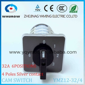 Image 5 - Rotary switch YMZ12 32/4 electrical Combination Changeover cam switch 32A 4 pole 0 6 position sliver contacts high voltage