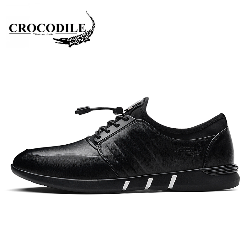 Crocodile Original 2018 New Young Men Waliking Shoes Male Breath Running Jogging Sneakers for Men's Althletci Flat Sport Shoes crocodile original 2018 new men walking shoes male leather working shoes running jogging sneaker for men s flat sport shoes