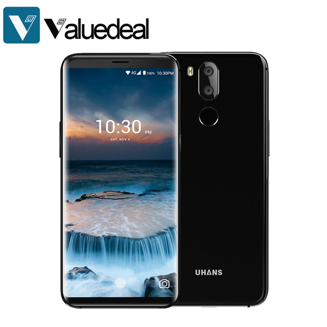 Original UHANS i8 5.7 Inch Android 7.0 Smartphone 4GB 64GB MT6750T Octa Core Dual Rear camera mobile phone