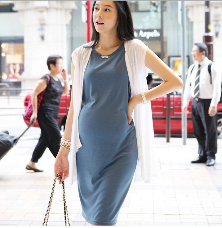 Hot Selling Maternity Clothes For Summer Causal Plus Size Cotton