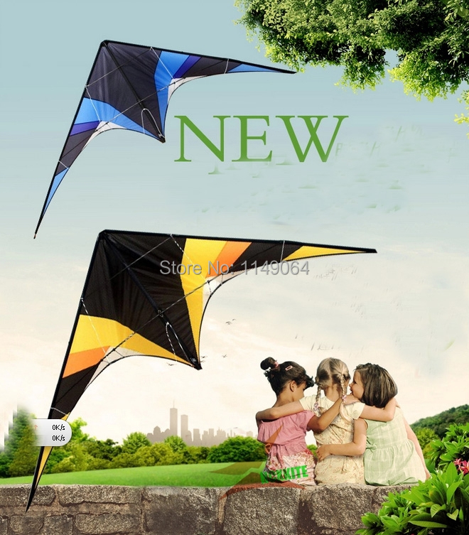 free shipping high quality 2.4m Inspiration fancy stunt kite Tumbling dual line power kite with handle line outdoor toys flying