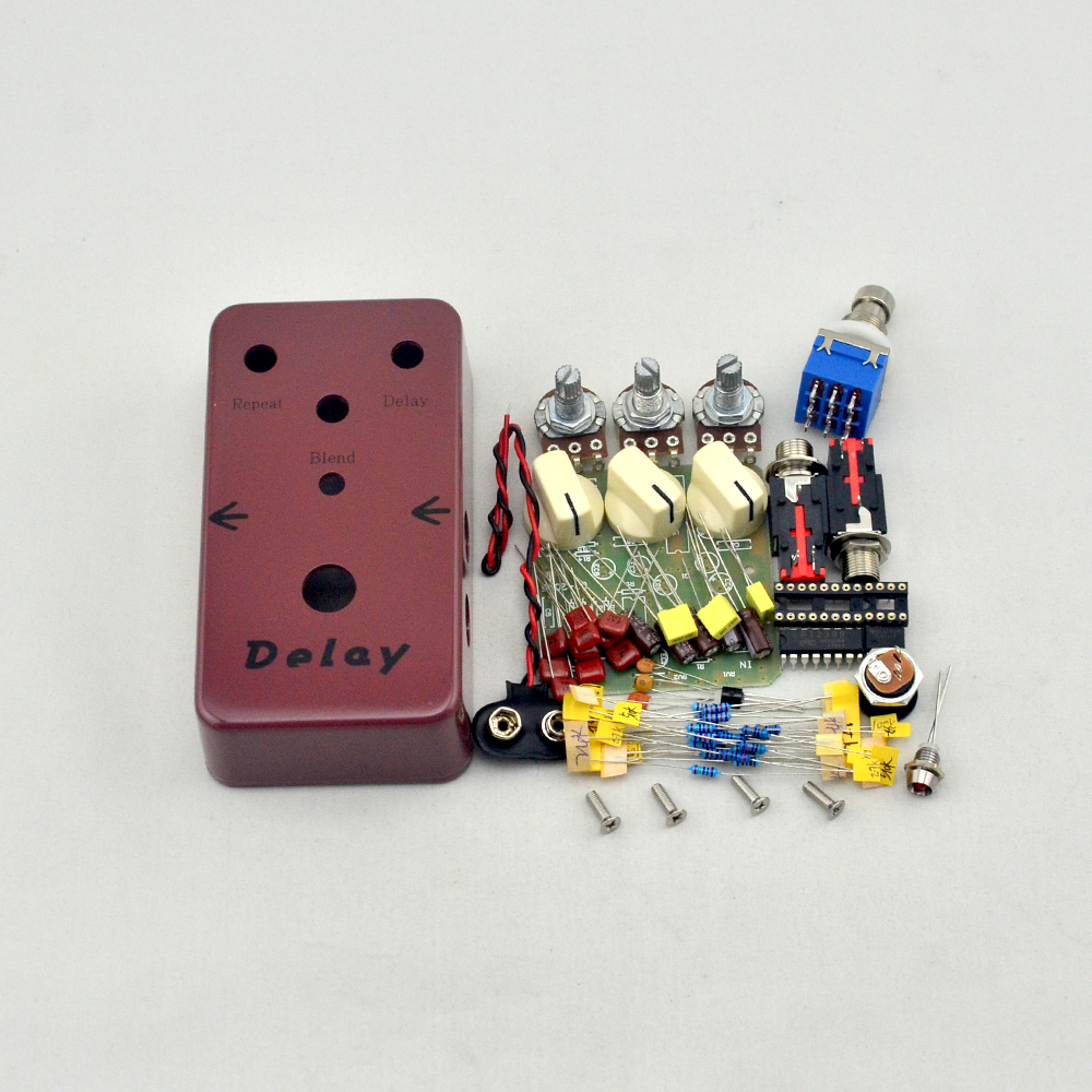 DIY Delay Guitar Effect Pedaalikomplekti viivitus Effects pedal de guitarra Electric Guitar Accessories tasuta saatmine