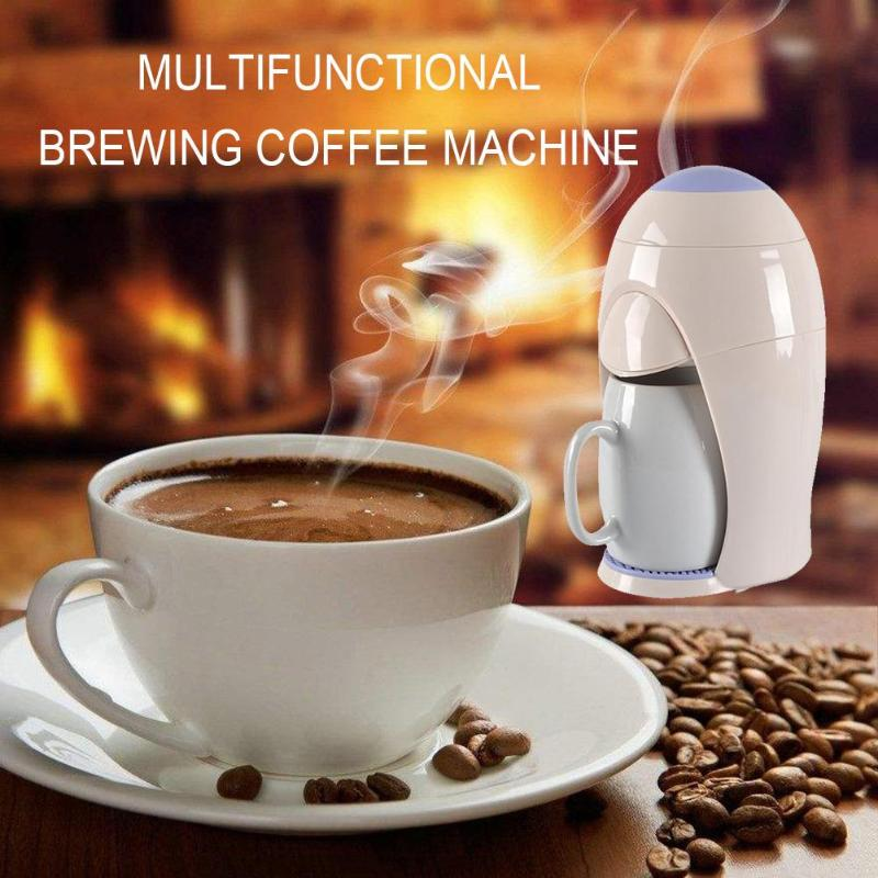 300W 1 Cup Drip Coffee Maker Electric Coffee Maker Automatic Espresso Cafe American Drip Coffee Maker Machine for Home Cafe household fully automatic coffee maker cup portable mini burr coffee makers cup usb rechargeable capsule coffee machine