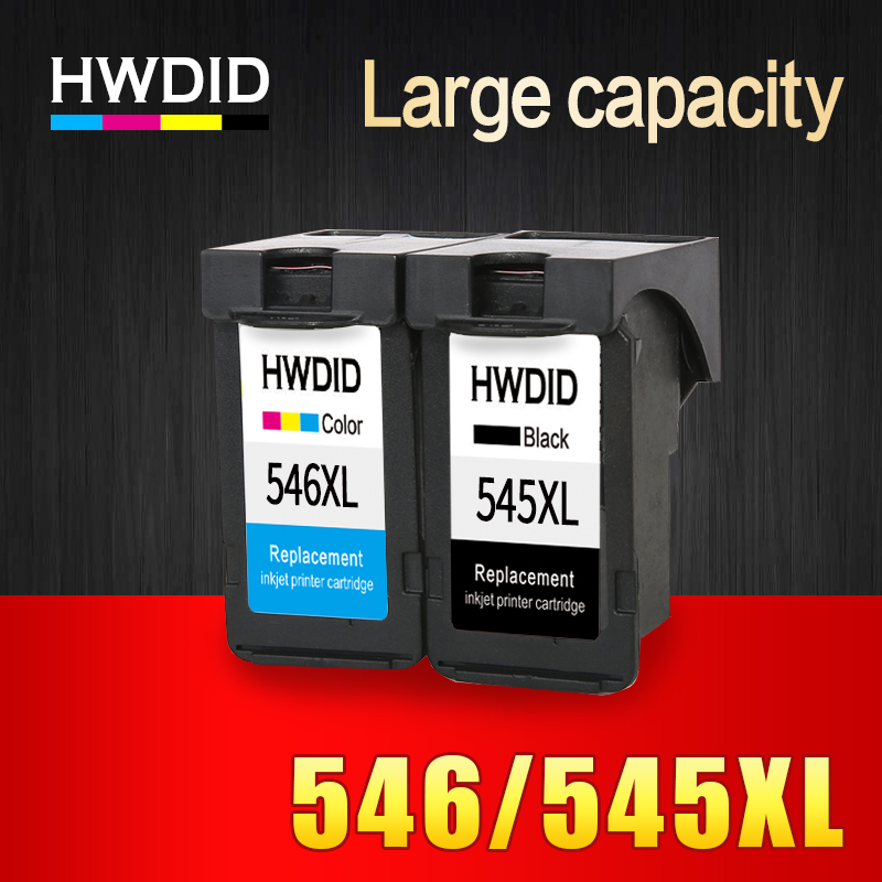 цены HWDID 2Pack PG545 CL546 XL ink cartridges replacement for Canon PG-545 pg 545 CL-546 for Canon IP2850 MX495 MG2950 MG2550 MG2450