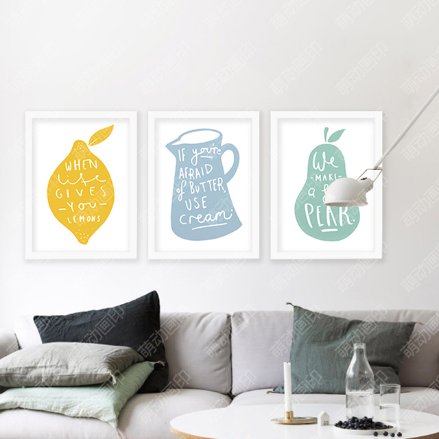 Wall Art Canvas Lemon Posters And Prints Wall Painting Art Print ...