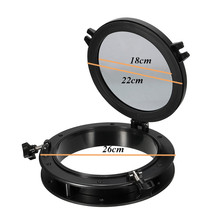NEW Boat Yacht Round Opening Portlight Window Black 25cm Replacement Porthole Window Hatch Touring Car Round Shape Porthole