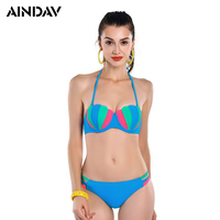 2017 New Padded Halter Bikini Set Push Up Brazilian Biquinis Beach Bathing Suits Sexy Swimsuit Women