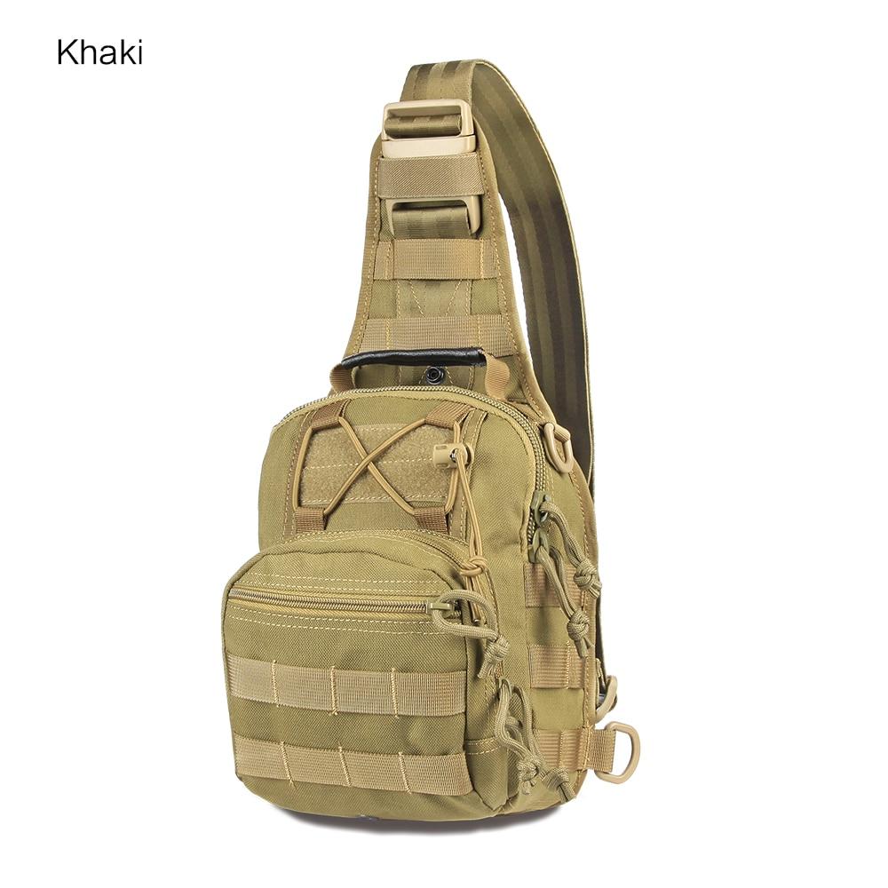 군사 1000D 나일론 몰리 시스템 가슴 메신저 가방 어깨 가방 방수 사냥 가방 29x17x20cm 9.8L 작은 가방 PP5-0035