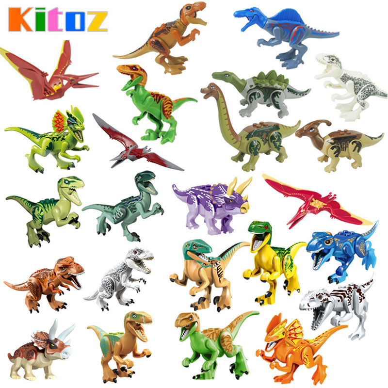 Jurassic Park Minifigures Dinosaur World Pterosaurs Triceratops T-Rex