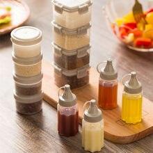 Dispensador de condimentos de cozinha 4 pçs/set, garrafa de plástico para espremer salada